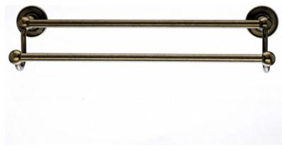 Edwardian bath 18 double towel rod german bronze for German made bathroom accessories