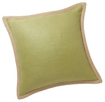 Pottery Barn Throw Pillow Green : Jute Braid Pillow Cover 20