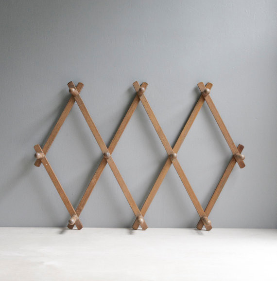 Classic Wood Peg Rack by Oh, Albatross traditional-wall-hooks