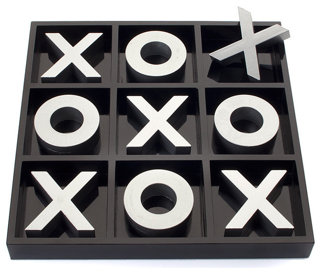 Tic Tac Toe Game contemporary-decorative-accents