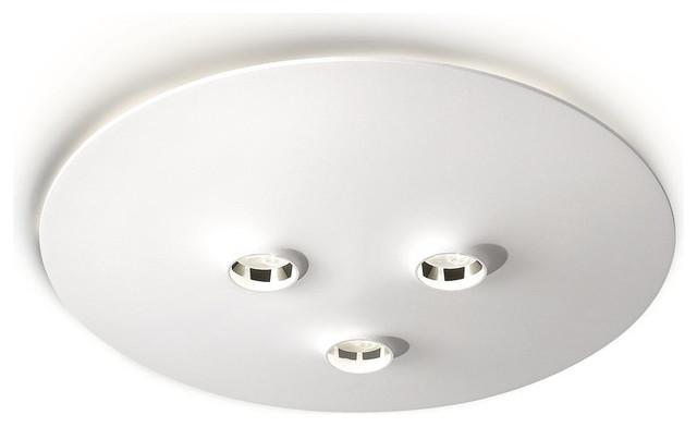 Philips 316013148 White Ledino 3 Light LED Flush Mount