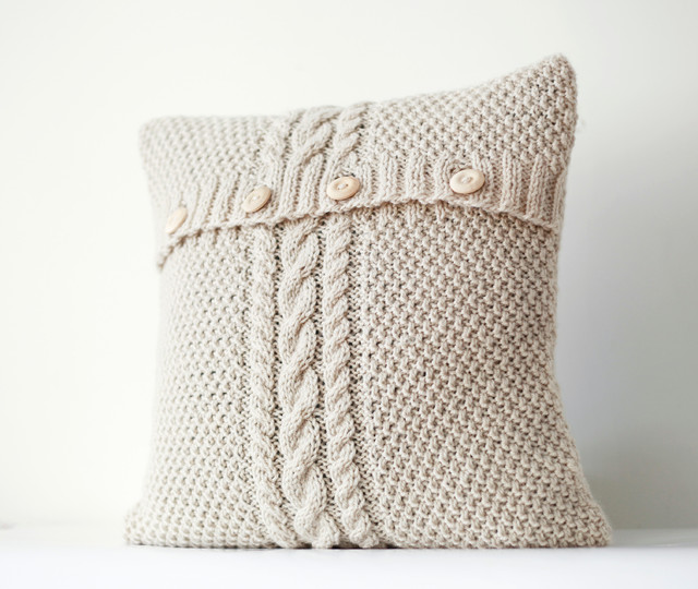 Traditional Accent Pillows : Knitted pillow covers - Traditional - Decorative Pillows - other metro - by Rosita