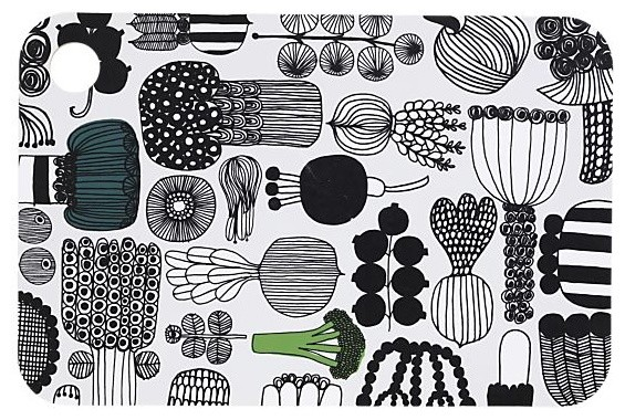 Marimekko Puutarhurin Parhaat Chopping Board modern-kitchen-knives-and-accessories