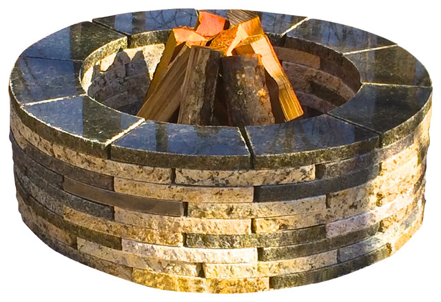 """Granite fire pit, Mixed Blend, 36"""" Round - Contemporary - Fire Pits ..."""