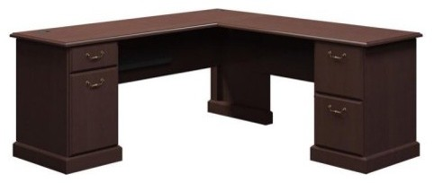 Bush Syndicate 72-in. L-Desk - Mocha Cherry traditional-desks-and-hutches