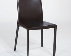 Ital Modern Shen Leather Dining Chair - 4 Chairs contemporary dining chairs and benches