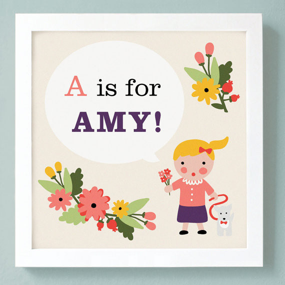 Custom Kids Art Print Personalized By Unless Someone Like You contemporary-kids-decor
