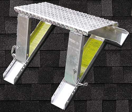 High Stepper Roof System Work Platform And Ladder Supports contemporary-ladders-and-step-stools