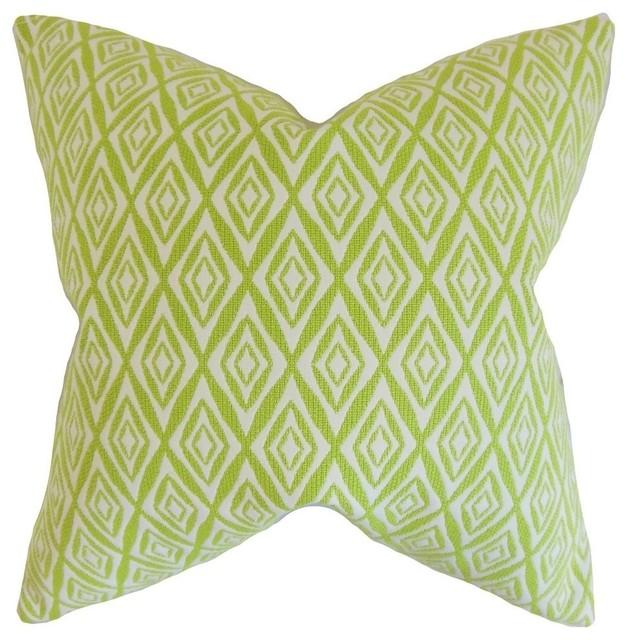 Green Geometric Throw Pillow : Najila Geometric Pillow, Green 20
