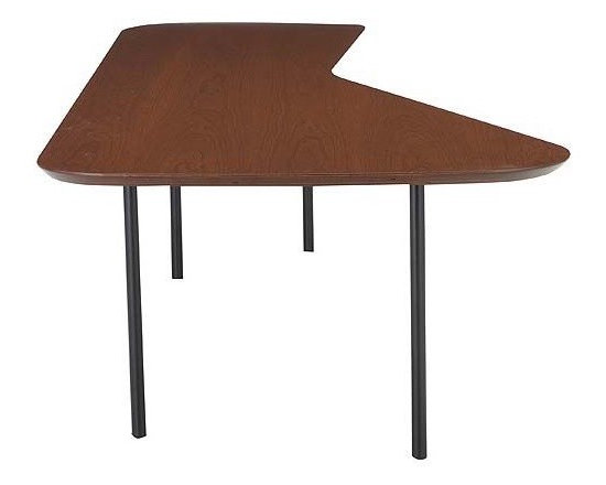 Girard Table - Sometimes when you've filled your house with grids and rectangular modern lines, you need to throw in a 45 degree angle. In 1948, Alexander Girard recognized this need. Thus, his walnut veneered coffee table is here to oblige.
