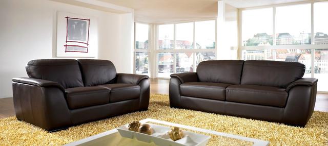 Ashton Leather Sofa and Loveseat modern-sofas