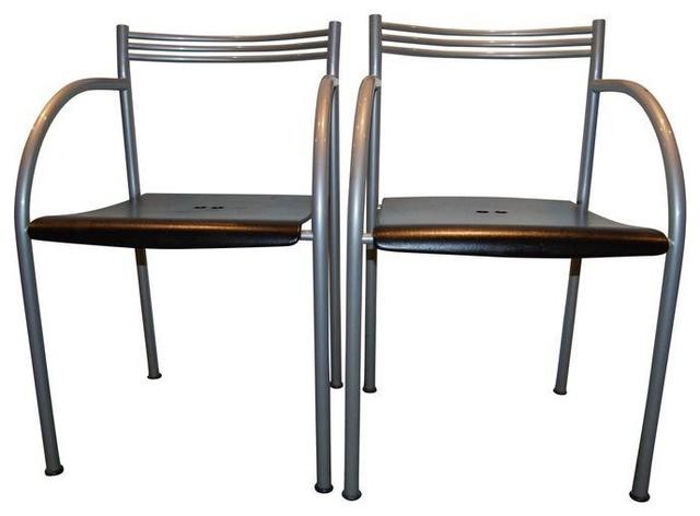 Philippe starck baleri italia chairs set of 4 dining for Philippe starck dining tables