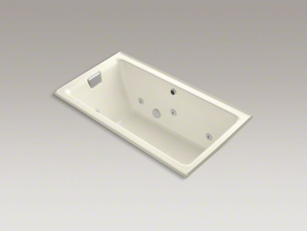 """KOHLER Tea-for-Two(R) 66"""" x 36"""" alcove whirlpool bath with left-hand drain and h contemporary-fire-pits"""