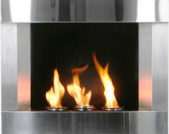 Stainless Steel Wall-mount Fireplace contemporary-fireplaces