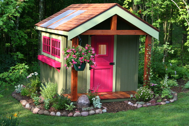 Deluxe potting shed sheds minneapolis by northwood for Garden designs with summer houses