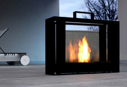 Travelmate Fireplace By Conmoto modern fireplaces