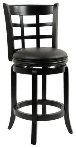 "24"" Kyoto Swivel Stool in Black modern-bar-stools-and-counter-stools"