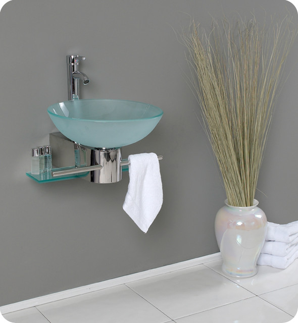 Wall Mounted Vessel Sink Vanity FVN1012 modernbathroomvanitiesand