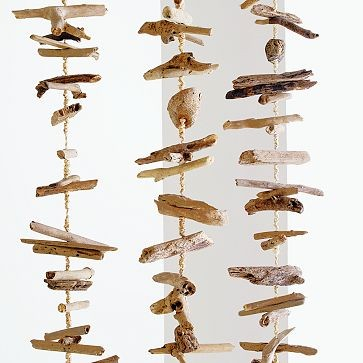 Weathered Wood Hanging Strand | west elm eclectic-accessories-and-decor