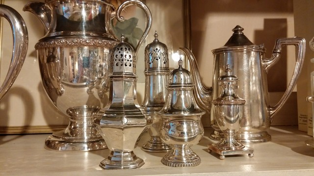 decorating with antiques...silver