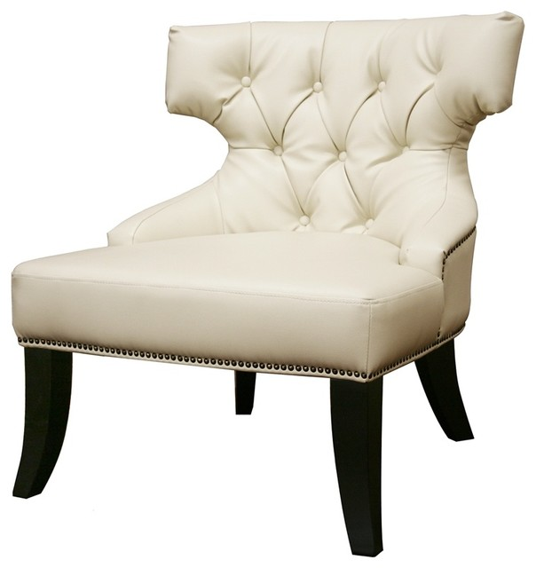 Baxton Studio Taft Leather Club Chair traditional chairs