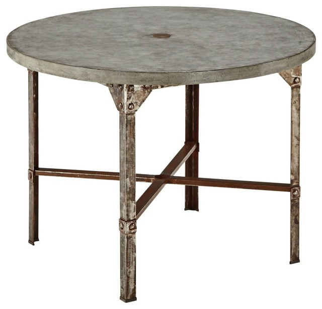 Rustic lodge urban collection round outdoor dining table Rustic round kitchen table