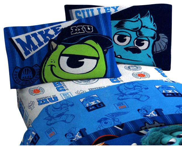 Monsters Inc 4 Piece Premier Crib Bedding Set: Disney Monsters Inc Scare University 3 Pieces Twin Bed