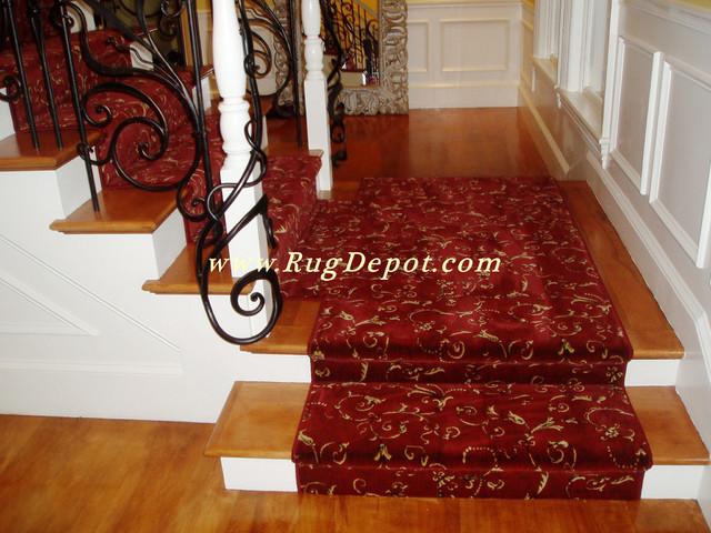 Kane Carpet Red Floral carpet-tiles