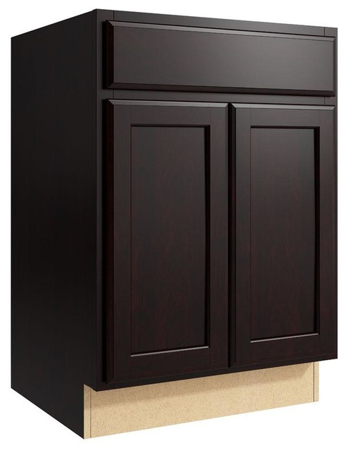 Cardell Cabinets Stig 24 in. W x 34 in. H Vanity Cabinet Only in Coffee brown - Contemporary ...