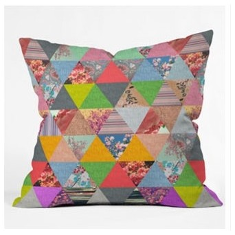 Bianca Green Lost in Pyramid Throw Pillow modern-decorative-pillows