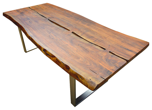 Modern Rustic 82 Large Slab Loft Live Edge Dining Table Rustic Dining