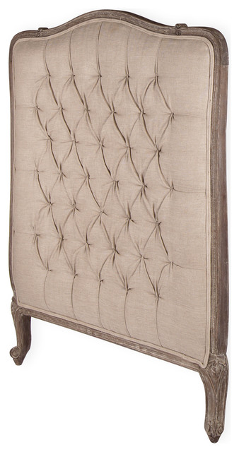Lillian gray oak french country queen headboard Traditional wood headboard