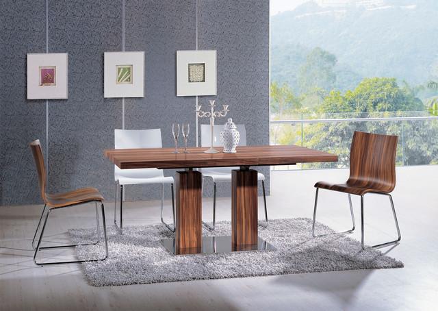 Extendable rectangular wooden italian 5 piece kitchen set for Italian kitchen set
