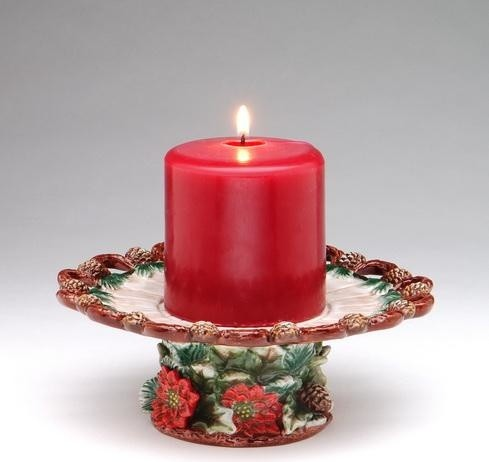 7 inch multicolored festive christmas themed candle holder for Large outdoor christmas candles