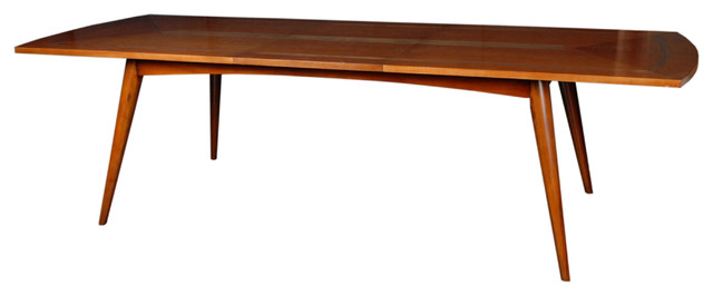 """Sornin Dining Table,One 23.5"""" Butterfly midcentury-dining-tables"""