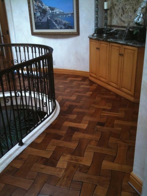 Custom Ouilla Walnut Wood Floor traditional-hardwood-flooring
