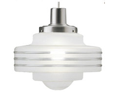 Satin Aluminum Art Deco Pendant contemporary pendant lighting