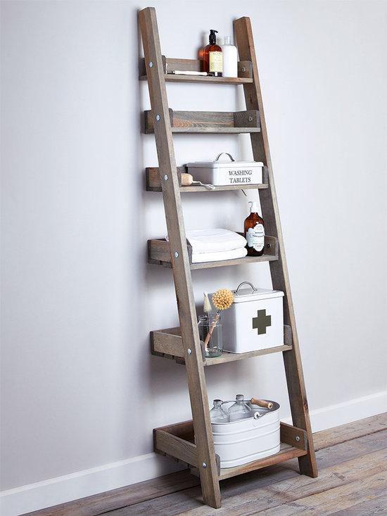 Rustic Wooden Ladder Shelf -