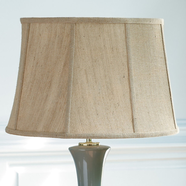 tapered drum shade ivory silk 18 inch traditional lamp shades. Black Bedroom Furniture Sets. Home Design Ideas