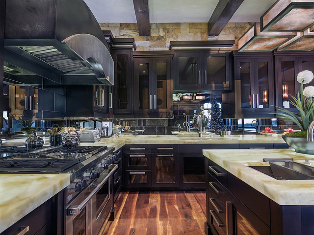Residential Kitchen in Vail, Colorado Illuminated contemporary-kitchen