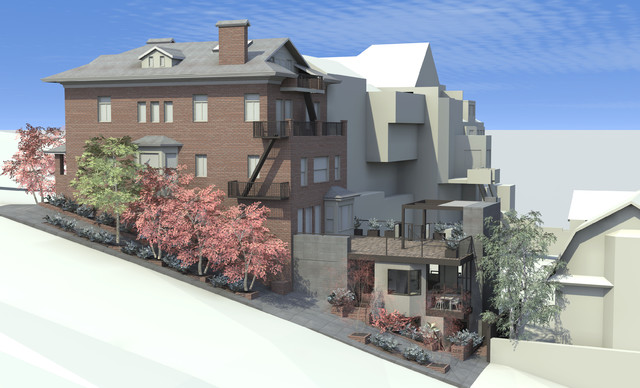 Pacific Heights Residence - New Addition traditional-rendering