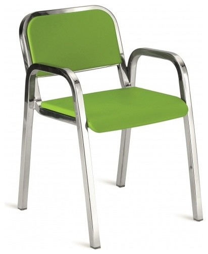 Nine-0 Stacking Armchair, Soft Back modern-armchairs-and-accent-chairs