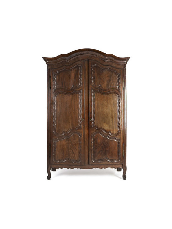 Antique Furnishings- 18th Century Walnut Armoire - Wide selection of antique and vintage furnishings including armoires, tables, and chairs.