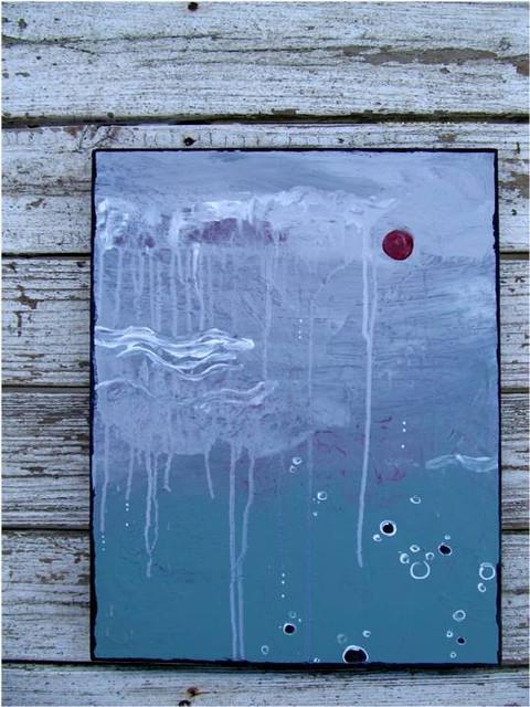 Original Abstract Mixed Media Acrylic Modern Painting on Canvas - 16x20 - SeaFoa contemporary-mixed-media-art