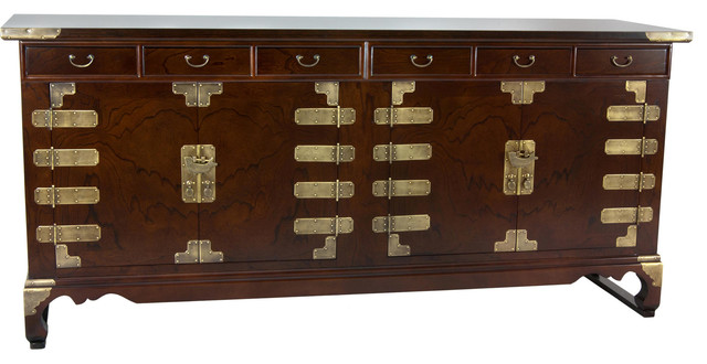 Korean Antique Style 8 Drawer Double Cabinet Credenza - Asian - Buffets And Sideboards - by ...