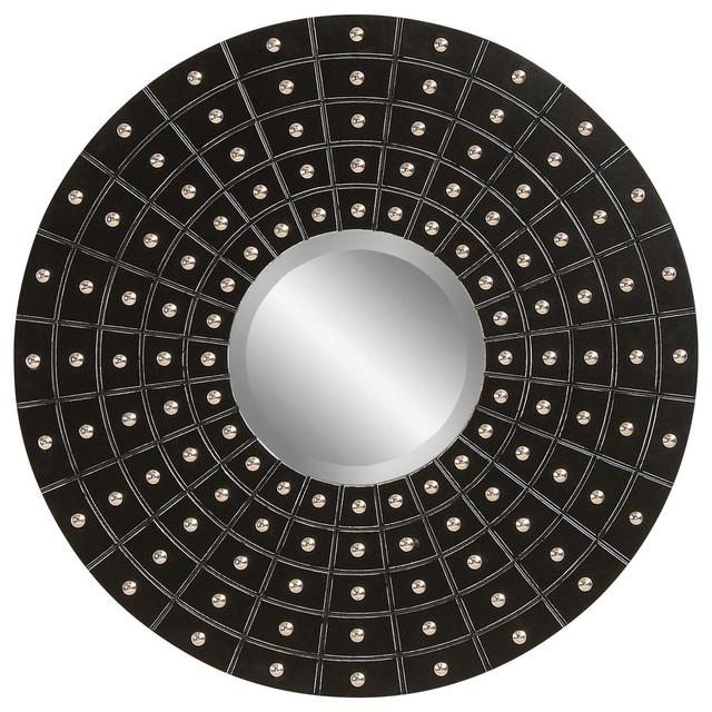 Contemporary black round wall mirror contemporary for Round black wall mirror
