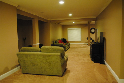 basement furniture layout