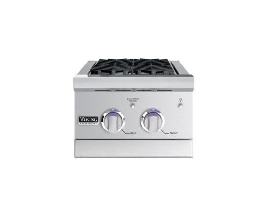 """VIKING 15"""" Double Side Burner, Propane Gas Stainless Steel 
