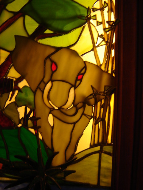3d Stain Glass Jungle Picture In A Wall Light Box Frame