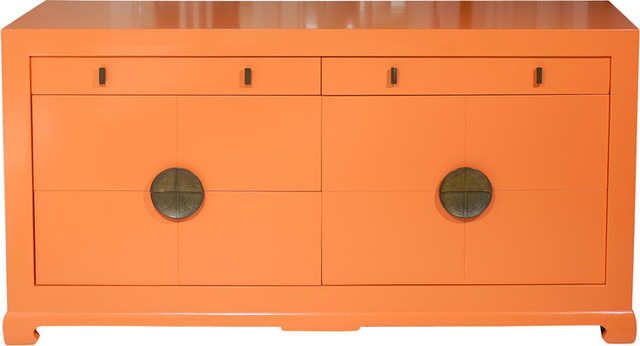 Orange Ming Era Dresser asian